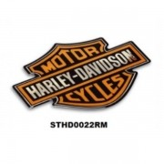 Adesivo Resinado Metalizado Harley-Davidson 9,5x7cm - STDH0022RM