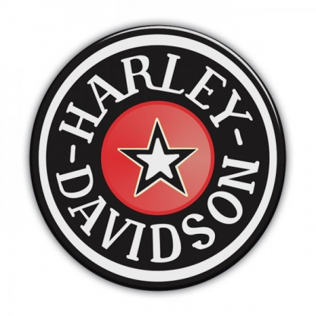 Adesivo Resinado Redondo Harley-Davidson - Pequeno - STHD0016RP