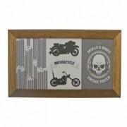 Azulejo Decorado Emoldurado - Motivo Moto - 68x40 - 034/29605