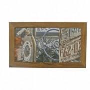 Azulejo Decorado Emoldurado - Motivo Moto - 68x40 - 034/38601