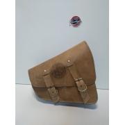Bolsa de Balança Couro Caramelo - HD Sportster - 3 litros - 008/32204