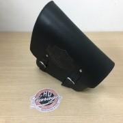 Bolsa de Balança em Couro - Motivo Bar & Shield - HD Softail - Pequena - 2,5 L - Preta - 008/40404