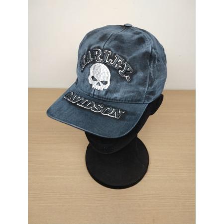 Boné Azul Estonado - Motivo Harley-Davidson Skull - Mod 02 - 024/70405