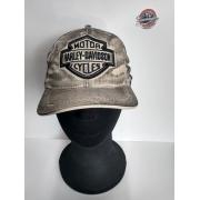 Boné Creme Efeito Engraxado - Motivo Bar & Shield Gr - 024/32847