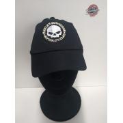 Boné Preto - Motivo Harley-Davidson Skull - Mod 02 - 024/59190