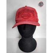Boné Vermelho Estonado - Motivo Harley-Davidson - 024/17909