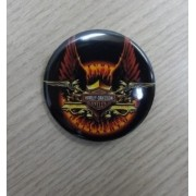 Botton Decorativo em Metal - Motivo Harley- Davidson 02 - 022/93008
