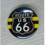 Botton Decorativo em Metal - Motivo Route 66 - 022/72209