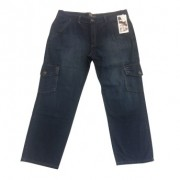 Calça Blue Jeans com Bolsos MCY - Masculina Estilo Cargo - Tam 60 - 025/47859