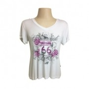 Camiseta Fem Baby Look - Motorcycle Lover - Tam GG - 040/05404