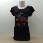 Camiseta Fem Longuete - Motivo Bar&Shield Strass - 040/21484