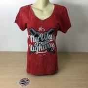 Camiseta Feminina Its my Way - Kallegari - Vermelha - Tam GG - 040/14803