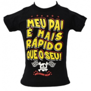 Camiseta Infantil - Meu Pai - Preta - 037/15504