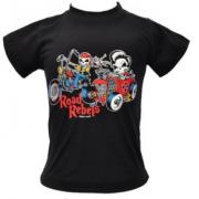 Camiseta Infantil Preta - Road Rebels - 037/17606