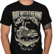 Camiseta Masc Preta - Ride With The King - 50411 - 026/74402