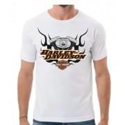 Camiseta Masculina - Motivo Harley-Davidson - Branca Mod 05 - 026/91005
