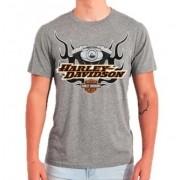 Camiseta Masculina - Motivo Harley-Davidson - Cinza Mod 05 - 026/74904