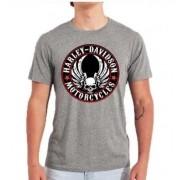 Camiseta Masculina - Motivo Harley-Davidson - Cinza Mod 06 - 026/67704