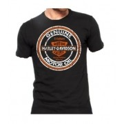 Camiseta Masculina - Motivo Harley-Davidson - Preta Mod 03 - 026/17000