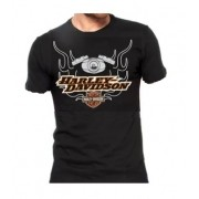 Camiseta Masculina - Motivo Harley-Davidson - Preta Mod 05 - 026/45602