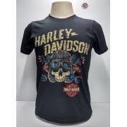 Camiseta Masculina - Motivo Harley-Davidson - Preta Mod 11 - 026/16007