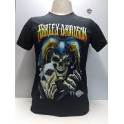 Camiseta Masculina - Motivo Harley-Davidson - Preta Mod 13 - 026/65002