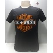 Camiseta Masculina - Motivo Harley-Davidson - Preta Mod 14 - 026/52308