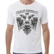Camiseta Masculina - Motivo Harley-Davidson - Branca Mod 01 - 026/90163