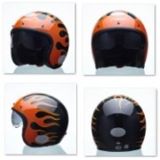 Capacete Lucca Sublime on Fire Glossy Black - 027/78008