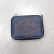 Carteira Em Couro Com Zíper - Logo Harley-Davidson - Preta - 022/45305