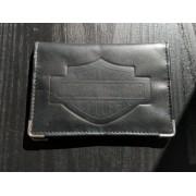 Carteira Porta Documento Em Couro Preto - Modelo Bar & Shield 01 - 022/56305