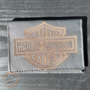 Carteira Porta Documento Em Couro Preto - Modelo Bar & Shield 02 - 022/46401
