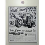 Chapa Decorativa - Motivo Harley-Davidson - MDF 40 X50 CM - Modelo 03 - 034/34409