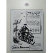 Chapa Decorativa - Motivo Harley-Davidson - MDF 40 X50 CM - Modelo 04 - 034/03207