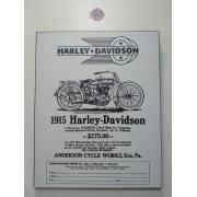 Chapa Decorativa - Motivo Harley-Davidson - MDF 40 X50 CM - Modelo 05 - 034/79704