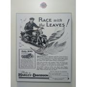 Chapa Decorativa - Motivo Harley-Davidson - MDF 40 X50 CM - Modelo 08 - 034/63005