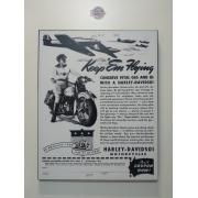 Chapa Decorativa - Motivo Harley-Davidson - MDF 40 X50 CM - Modelo 09 - 034/89106