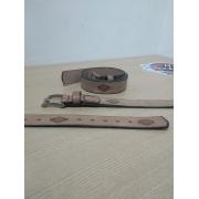 Cinto de Couro - Motivo Harley-Davidson - Caramelo - Mod 12 - 035/13209