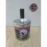 Cinzeiro Porta Bituca em Metal Motivo Caveiras - Pequeno - 022/45408