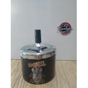Cinzeiro Porta Bituca em Metal Motivo Caveiras - Modelo 05 - 022/45185