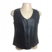 Colete Feminino Couro Preto - Wds Store - 048/50808