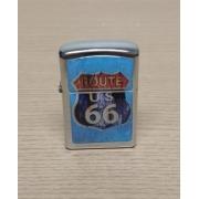 Isqueiro em Metal - Motivo Route 66 - Mod 02 - 022/40502