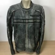 Jaqueta Masculina em Couro - Harley-Davidson - Spencer - Preta/Cinza - Tam 2XL - 032/59209