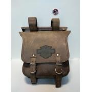 Mala Traseira - Motivo Bar & Shield - Tam G - 28 Litros - Marrom - 008/57007