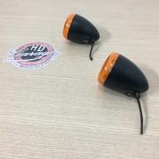 Piscas Dianteiros Originais - HD Multifit - Preto com Lente Laranja - Par - 001/96000