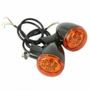 Piscas Traseiros de LED - Pretos com Lentes Laranja - HD Multifit - Par - 001/03000