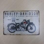 Placa Decorativa Retrô Vintage em Metal - Mod 06 - 022/96001