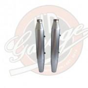 Ponteiras Originais Acetinadas com Capas de Proteção - HD Softail Fat Boy Special - Par - 010/37000