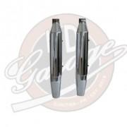 Ponteiras Originais Cromadas com Capa - HD Softail Heritage / Deluxe - Par - 010/86506