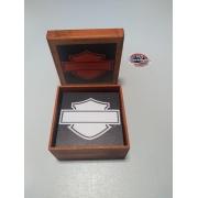 Porta Copos Artesanal em Madeira - Quadrados - 6 unidades - Modelo 07 - 022/47208